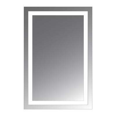 Malisa 36 in. L x 24 in. W LED Lighted Wall Mirror with 1.5 in. Lighted Frosted Border