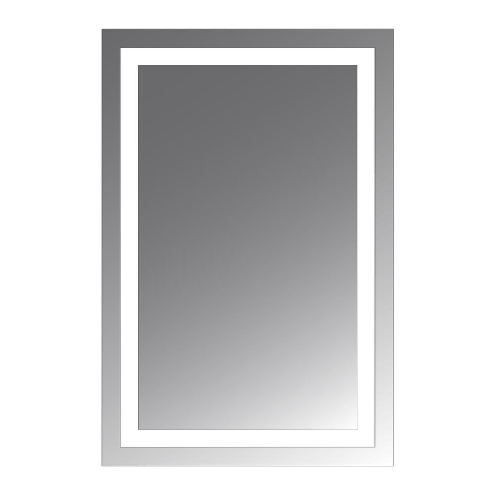 mirror 20 x 36. malisa 36 in. l x 24 w led lighted wall mirror with 1.5 20