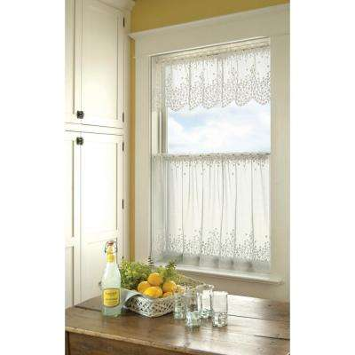 Blossom 42 in. L Polyester Valance in White