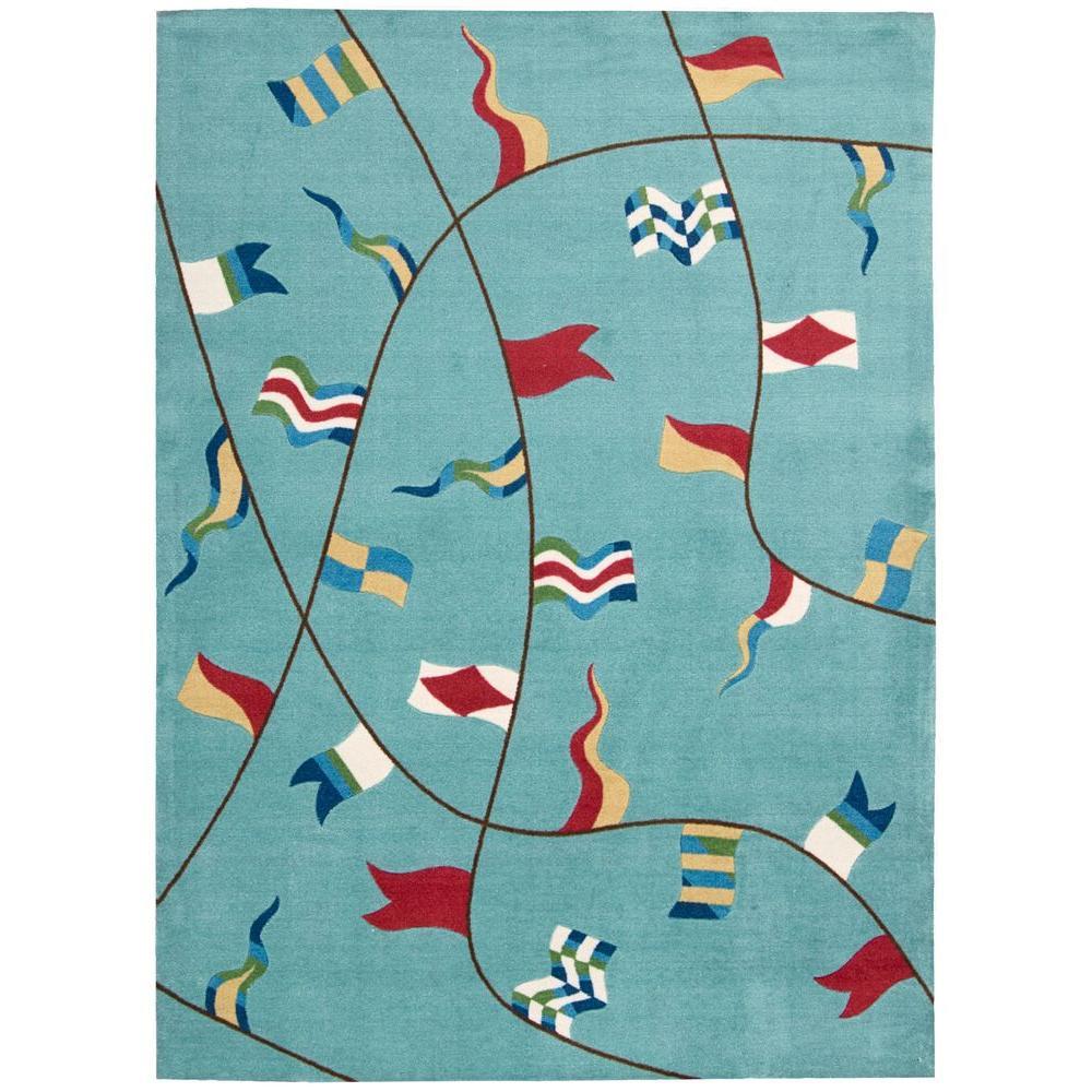 Signal Flag Rug: Nourison Overstock Shoreline Flags Ivory 5 Ft. X 7 Ft