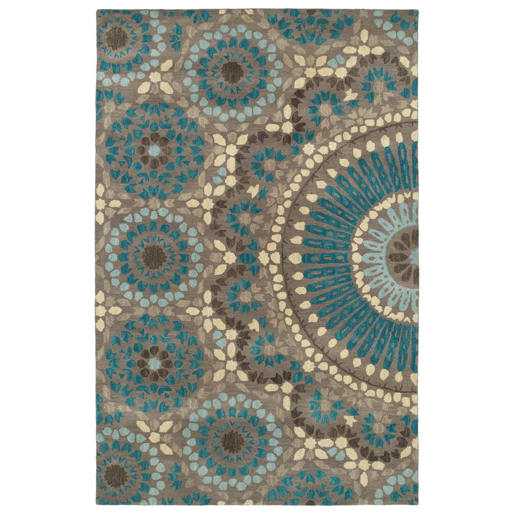 Kaleen Art Tiles Teal 2 Ft. X 3 Ft. Area Rug-HDPATI079123