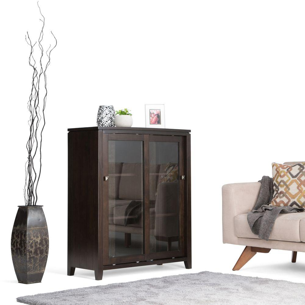 Cosmopolitan Dark Brown Storage Cabinet