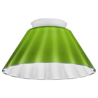 Green Melon Cone Glass Shade LED Mini Pendant