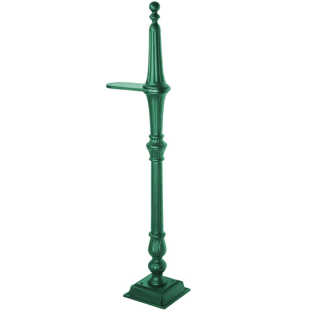 Salsbury Industries Classic 1-Sided Mailbox Post in Green
