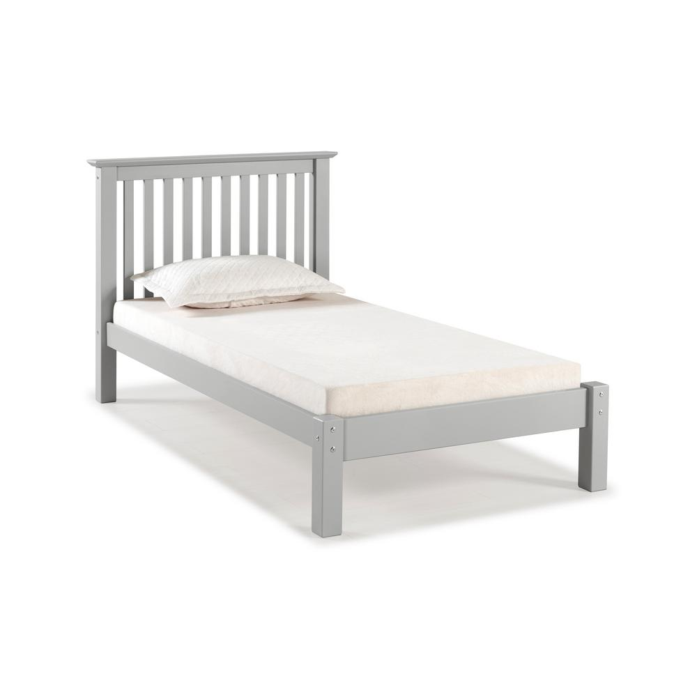 Barcelona Dove Gray Twin Bed