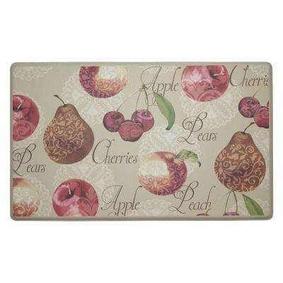 Elegant Fruit 18 in. x 30 in. Comfort Kitchen Mat