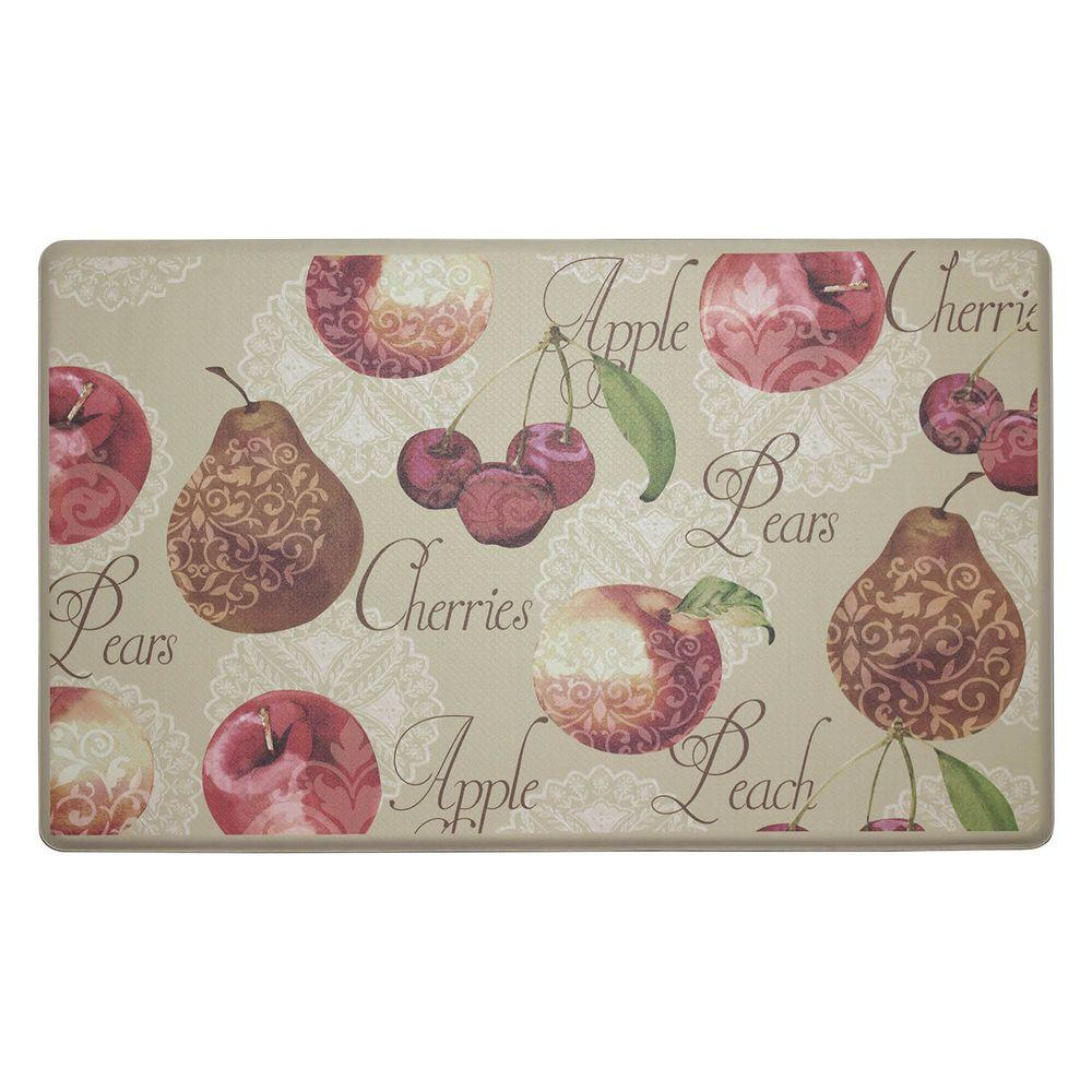 Chef Gear Elegant Fruit 18 in. x 30 in. Comfort Kitchen Mat ...