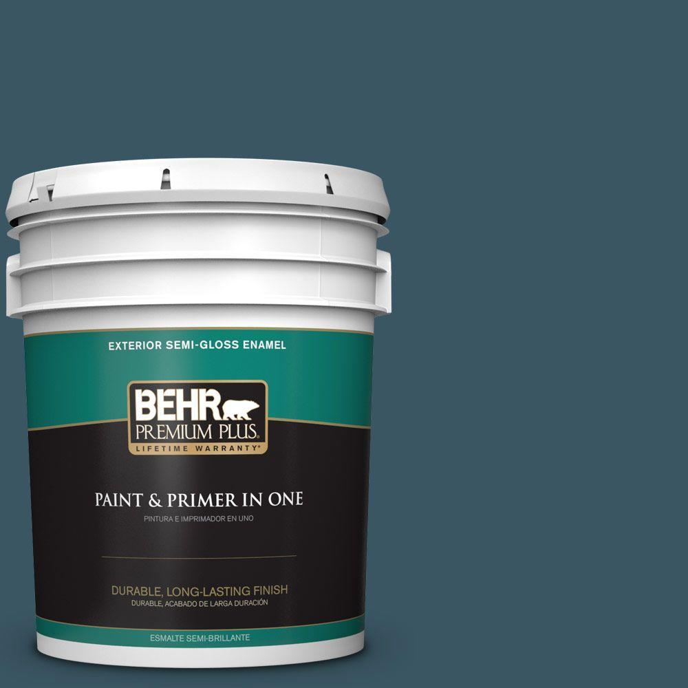 BEHR Premium Plus 5-gal. #530F-7 Rain Storm Semi-Gloss Enamel Exterior Paint