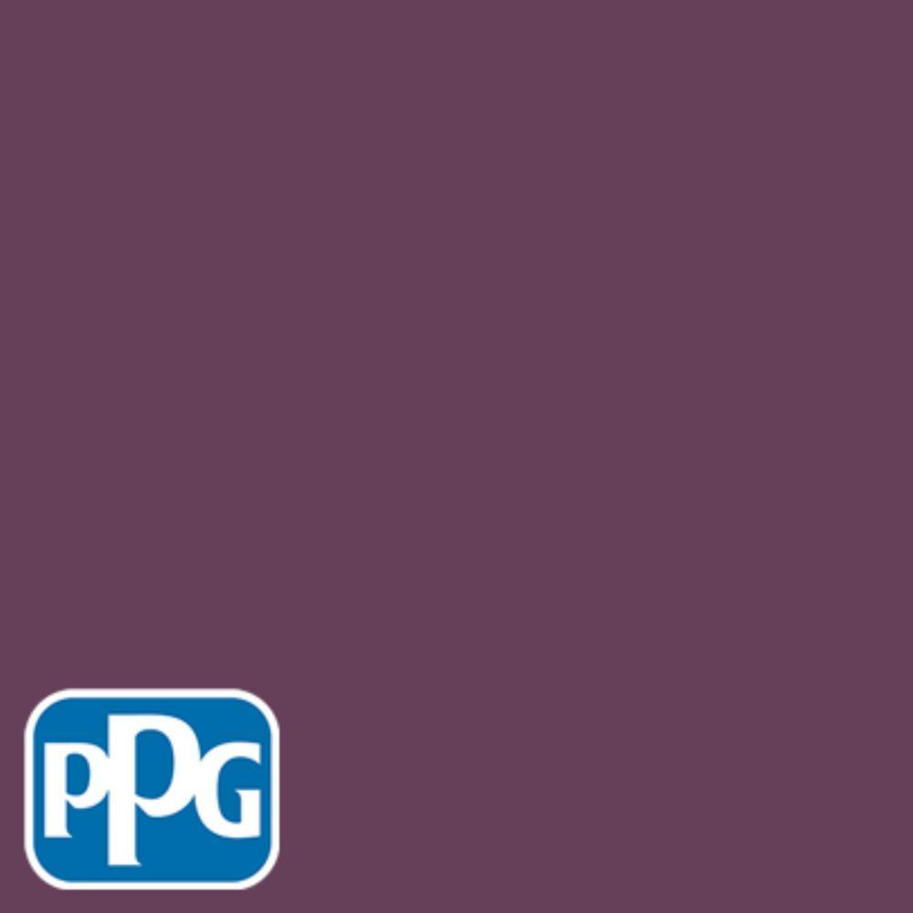 PPG TIMELESS 8 oz. #HDPPGR08D Deep Plum Flat Interior/Exterior Paint Sample