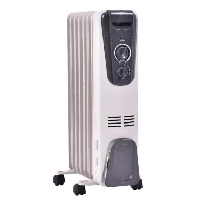 1500-Watt Electric Oil Filled Radiator Space Heater 5.7 Fin Thermostat Room Radiant