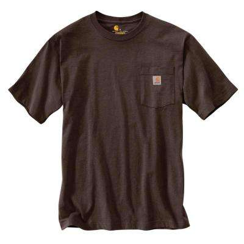 Men's Regular Small Dark Brown Cotton Short-Sleeve T-Shirt