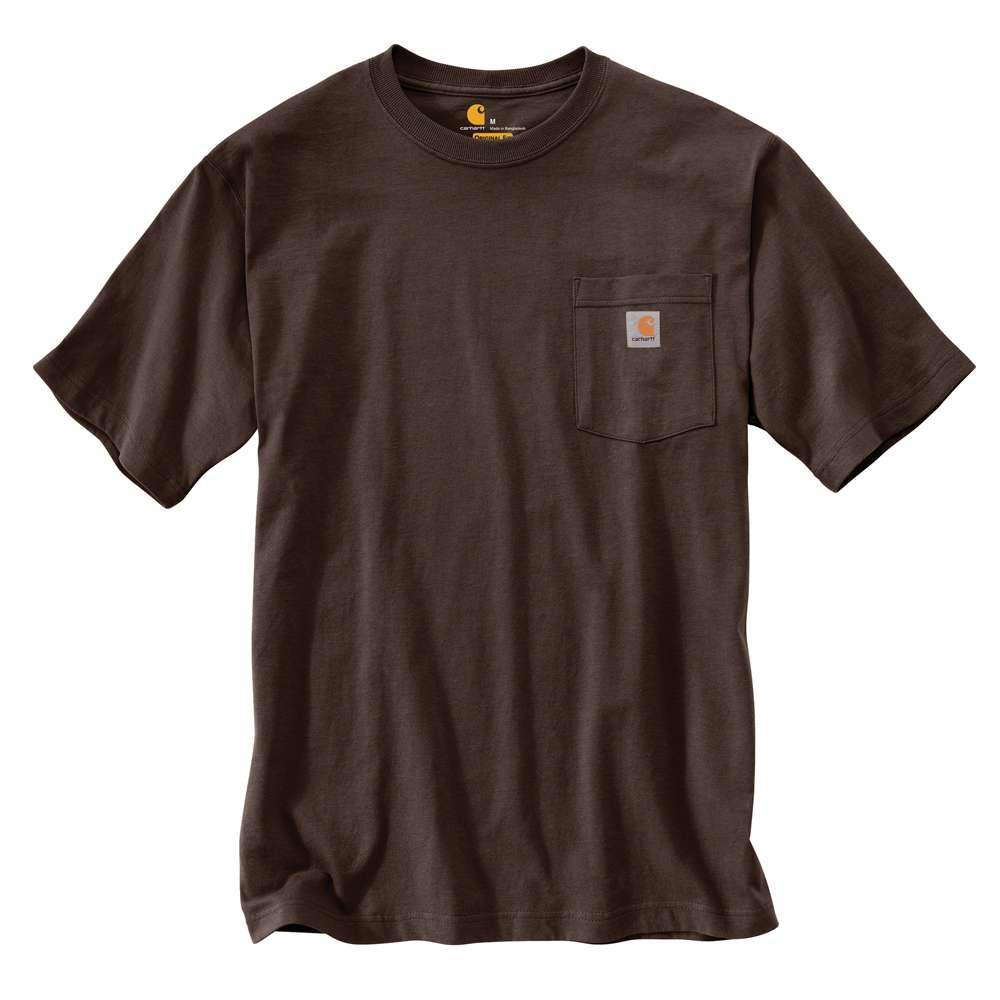 Carhartt Men's Regular Xxxx Large Dark Brown Cotton Short-Sleeve T-Shirt