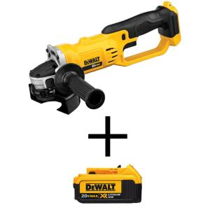 HomeDepot.com deals on DeWalt 20-Volt MAX  4-1/2 in. Grinder w/20-Volt MAX XR Battery
