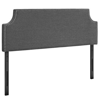 Laura Gray Queen Upholstered Fabric Headboard