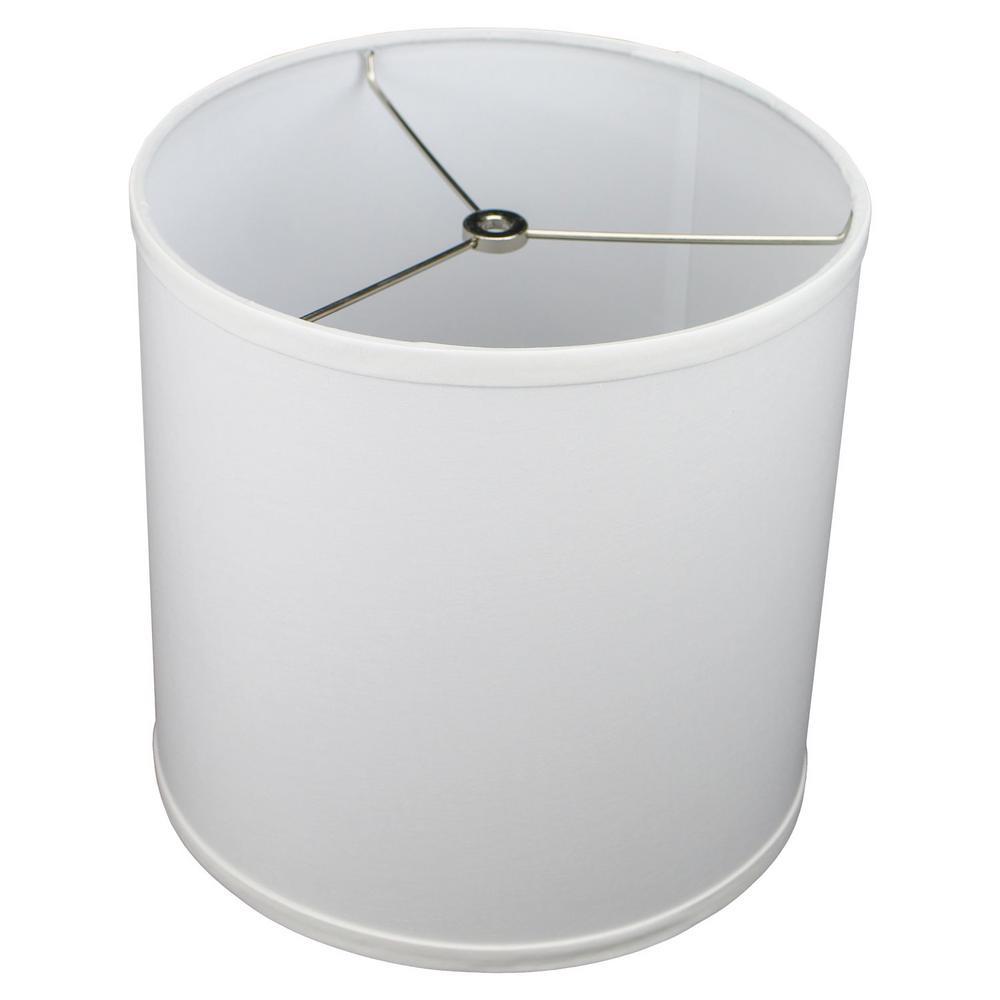 10.5 in. Top Diameter x 10.5 in. Bottom Diameter x 10.5 in. H Linen White Drum Lamp Shade