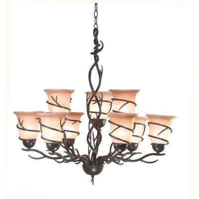 Twigs 9-Light Bronze Chandelier