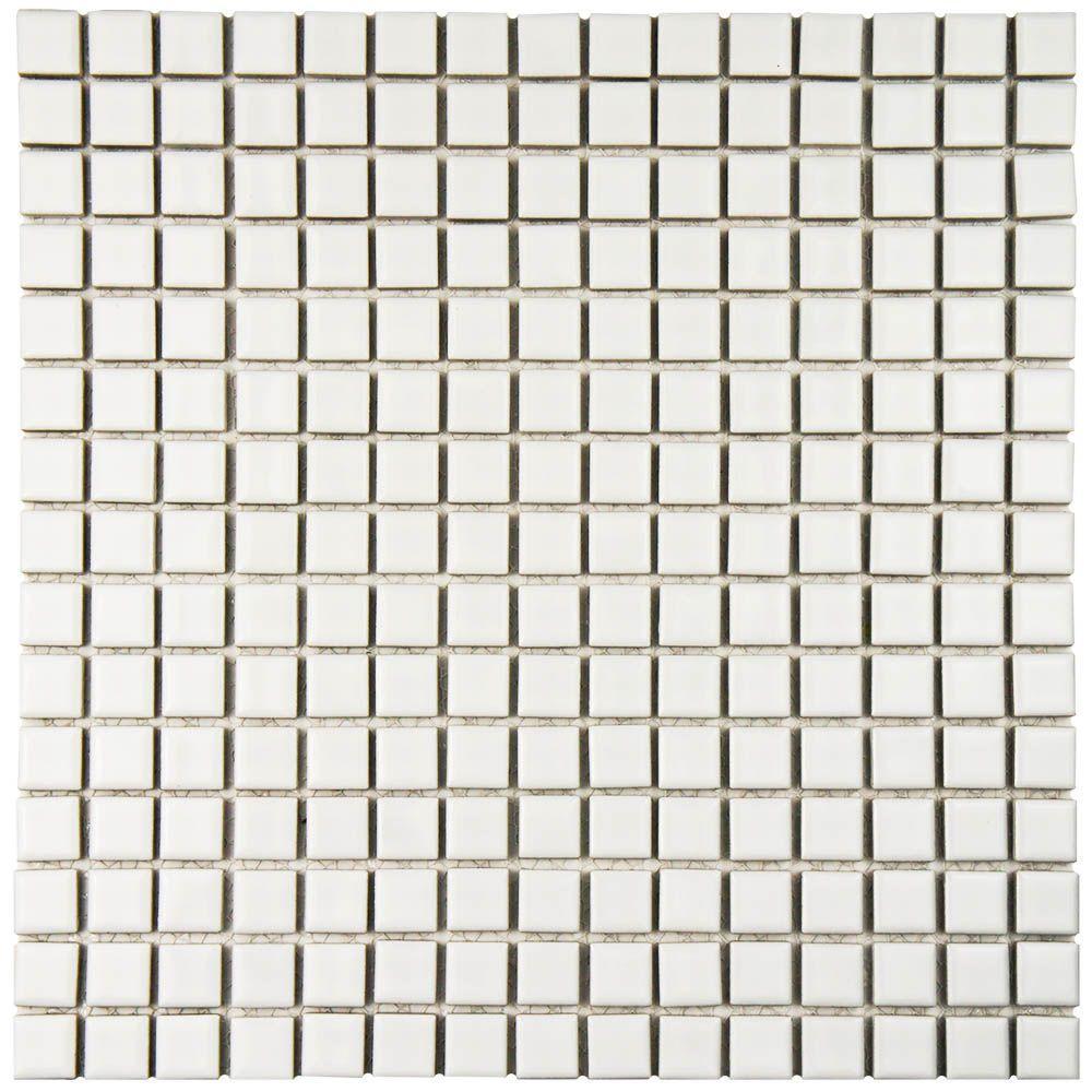 Hudson Edge White 12-3/8 in. x 12-3/8 in. x 6 mm