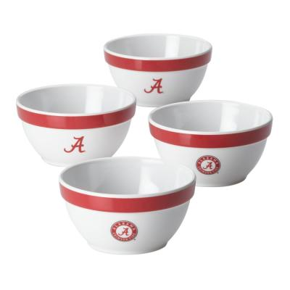 Alabama Party Bowls Set, 4-Piece, Crimson Red