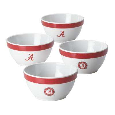 Alabama Party Bowls Set, 4-Piece, Crimson Red