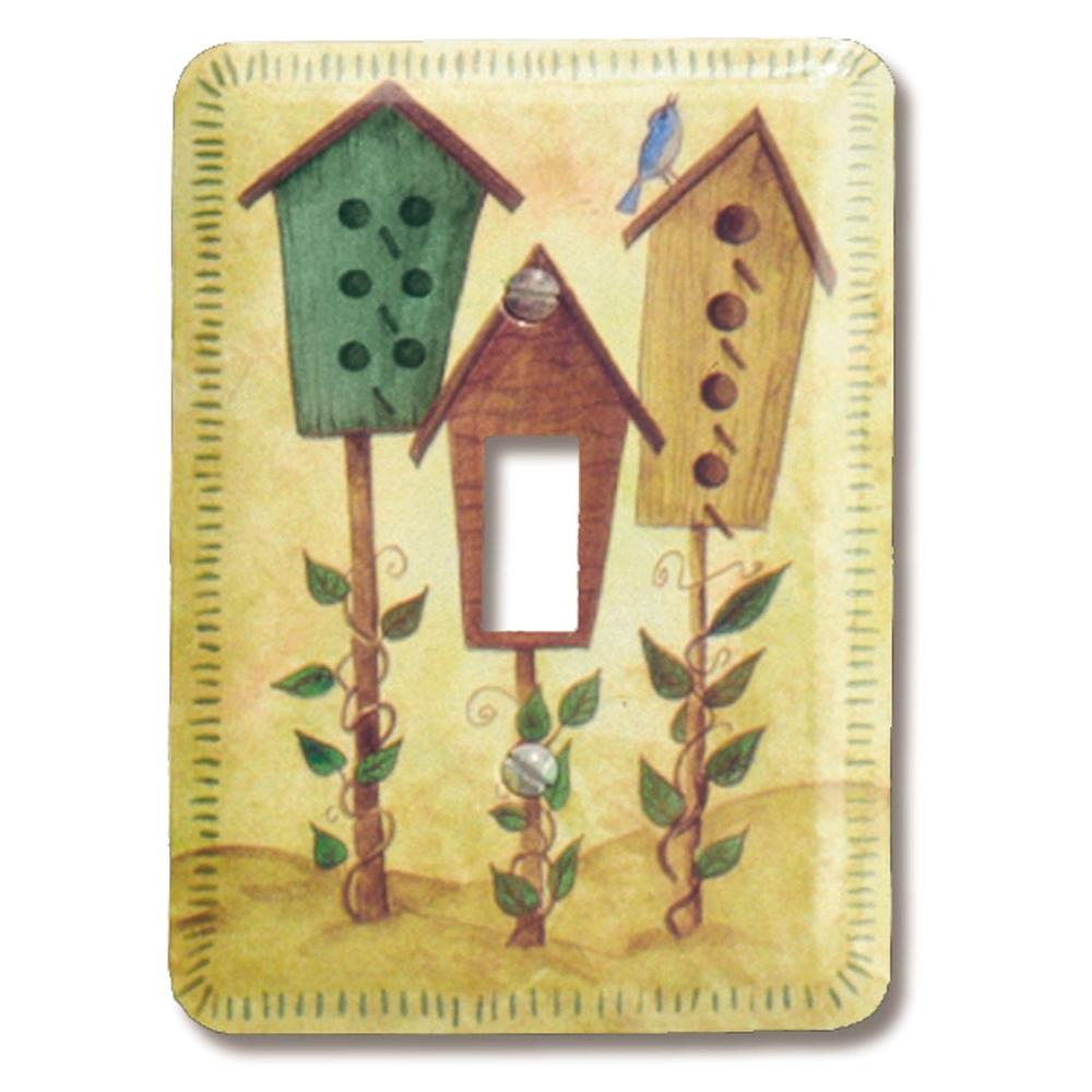 Bird-Houses 1 Toggle Wall Plate