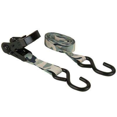 1 in. x 10 ft. Ergo-Torque Ratchet Tie Down (2-Pack)