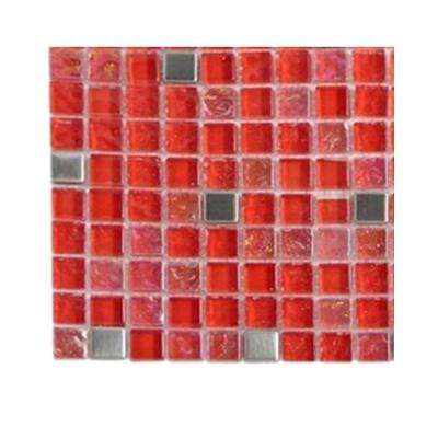 Bloody Mary Squares Glass - 6 in. x 6 in. Tile Sample