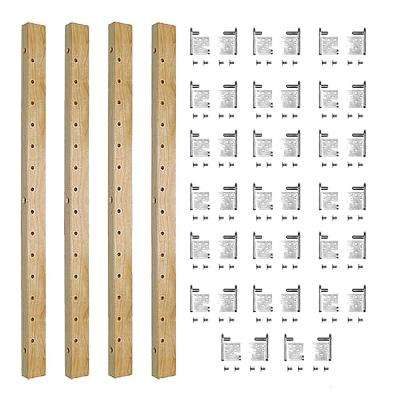 5-Shelf 58 in. L x 1-1/4 in. W Maple Pilaster Kit for Pantry Cabinet Adjustable Roll-Out Drawers