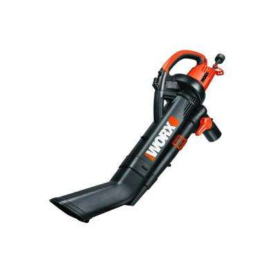 210 MPH 350 CFM Electric 12 Amp Leaf Blower/Mulcher/Vac with Metal Impeller
