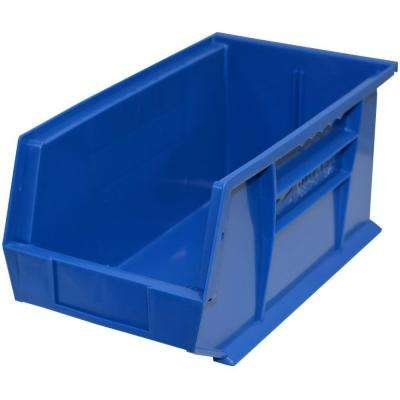 8-1/4 in. W x 14-3/4 in. D x 7 in. H Stackable Plastic Storage Bin in Blue (12-Pack)