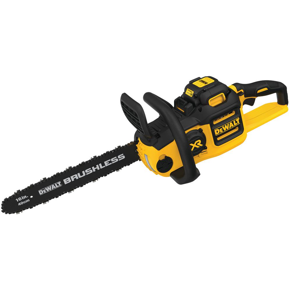 DEWALT 16 in. 40-Volt MAX Lithium-Ion Cordless Brushless Chainsaw with 4.0 Ah Battery Pack and Charger