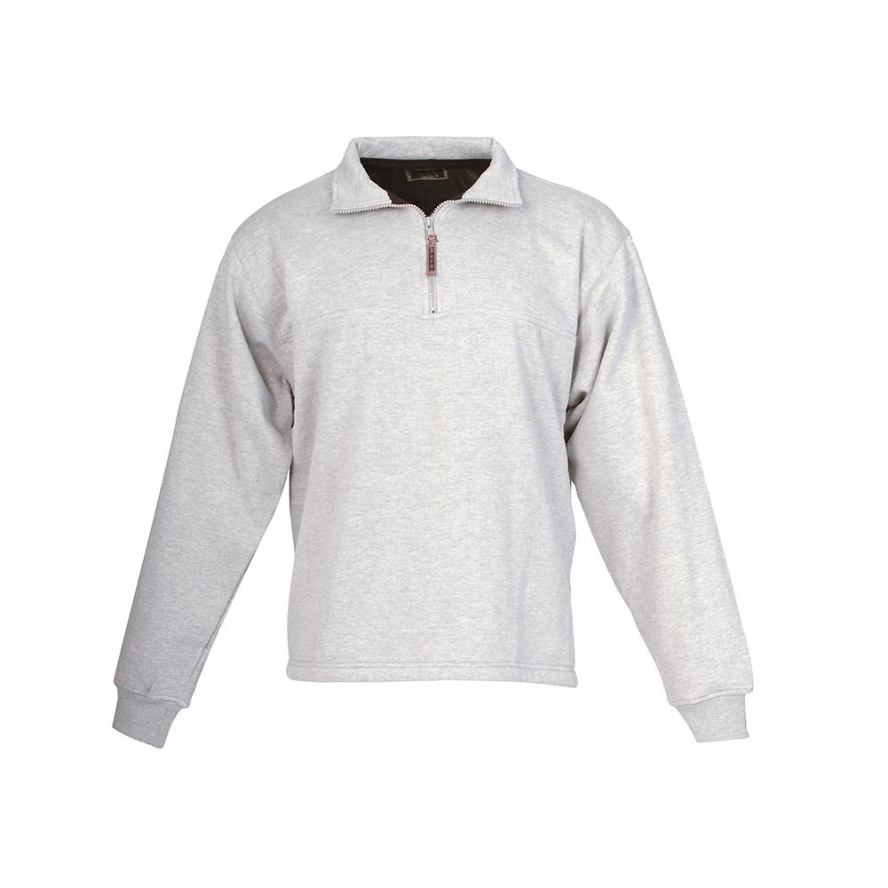 Berne Men s 3 XL Regular Grey Cotton and Polyester Quarter-Zip Thermal  Lined Sweatshirt ac4df11801d3