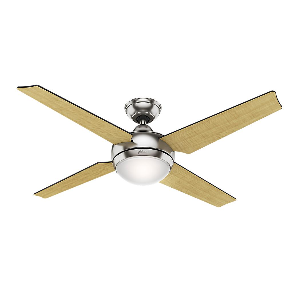 Hunter sonic 52 in indoor brushed nickel ceiling fan with light hunter sonic 52 in indoor brushed nickel ceiling fan with light kit and universal remote mozeypictures Image collections