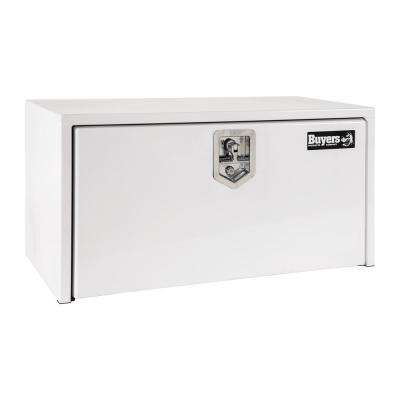 White Steel Underbody Truck Box with T-Handle Latch, 14 in. x 16 in. x 36 in.