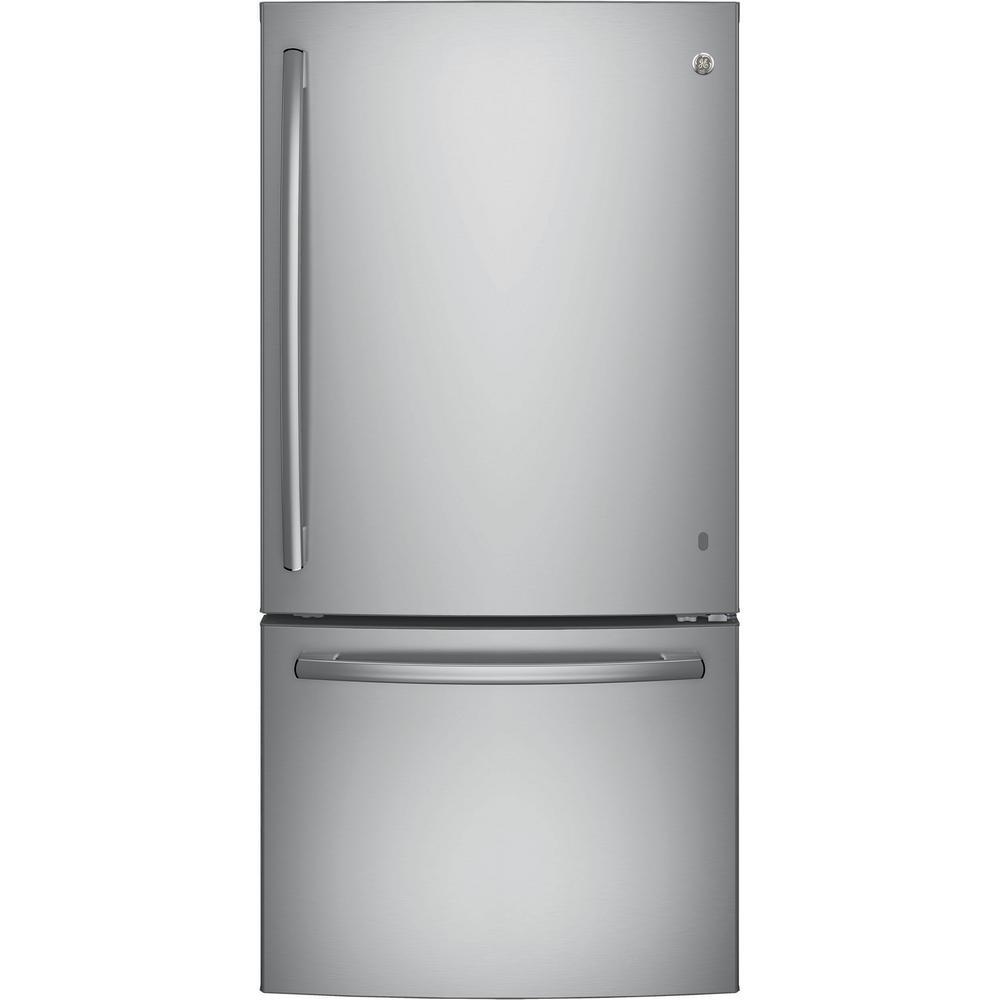 GE 24.8 cu. ft. Bottom Freezer Refrigerator in Stainless Steel, ENERGY STAR