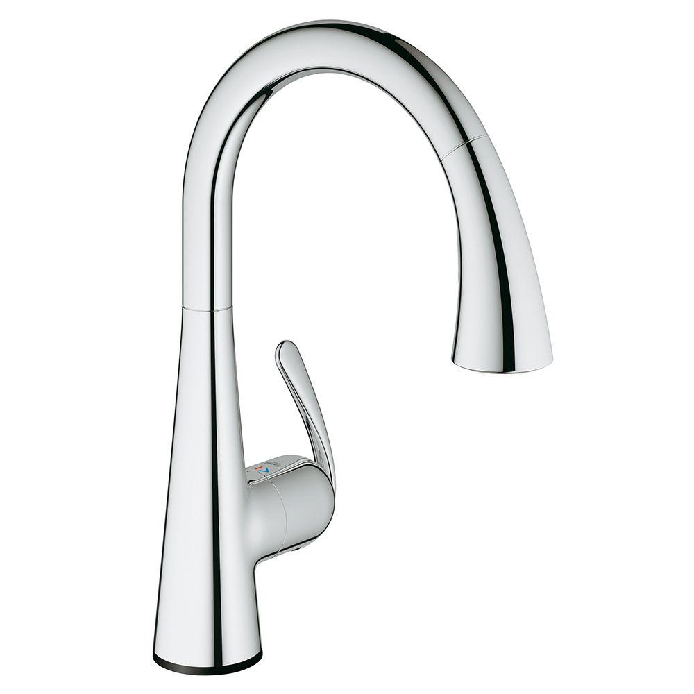 GROHE LadyLux3 Cafe Touch Single Handle Standard Kitchen Faucet In  StarLight Chrome