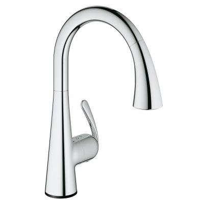 LadyLux3 Cafe Touch Single-Handle Standard Kitchen Faucet in StarLight Chrome