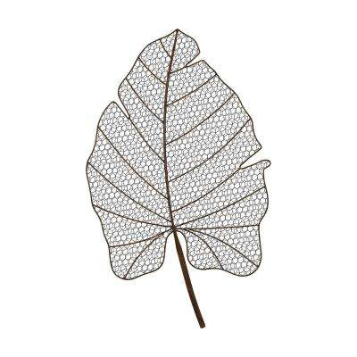 Wire Palm Frond Metal in Aged Iron Wall Decor