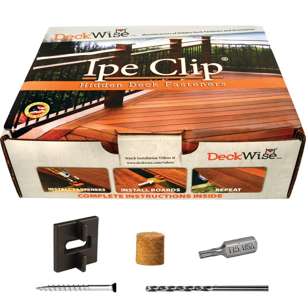 Extreme Ipe Clip Black Biscuit Style Hidden Deck Fastener Kit for