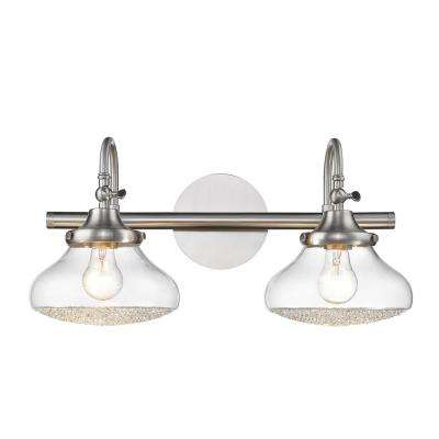 Asha 2-Light Pewter Bath Light