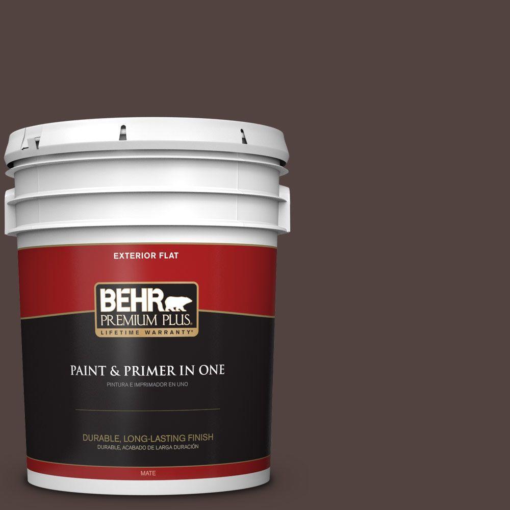 5-gal. #BNC-21 Double Espresso Flat Exterior Paint