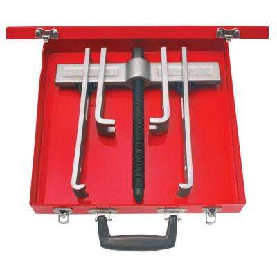 8 Piece Cased Set of 10 Ton 2 Arm Pullers with 4 Jaws