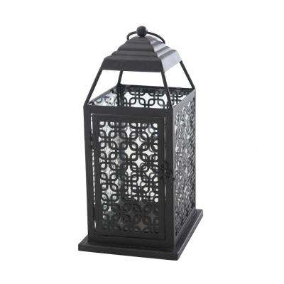 Small Pierced Metal Lantern in Antique Bronze