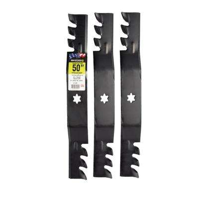 50 in. Commercial Mulching Blade Set for MTD, Cub Cadet, and Troy-Bilt Mowers (3-Pack)