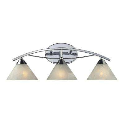 Elysburg 3-Light Polished Chrome Wall Vanity Light