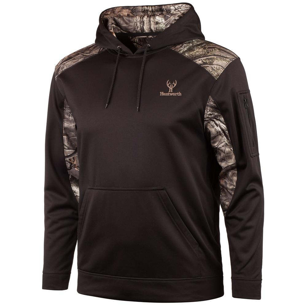 174f2512 HUNTWORTH HUNTWORTH Men's Medium Black / Hidden Hoodie
