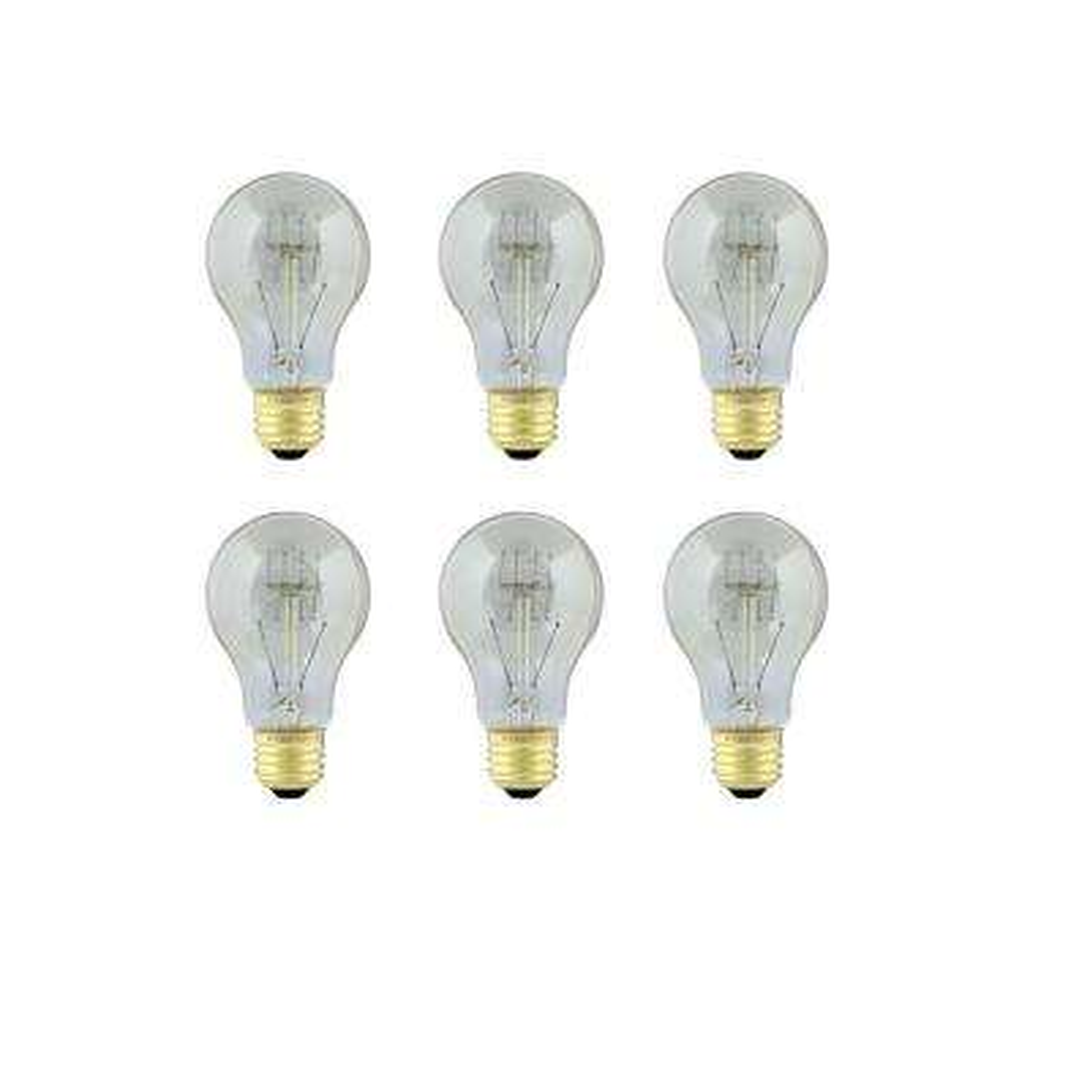 60-Watt Soft White AT19 Incandescent Original Vintage Style Light Bulb (Case of 6)