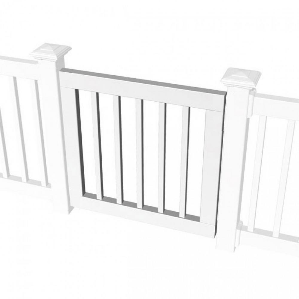 3 ft. Standard Gate Kit for Square Baluster Original Rail, Deck