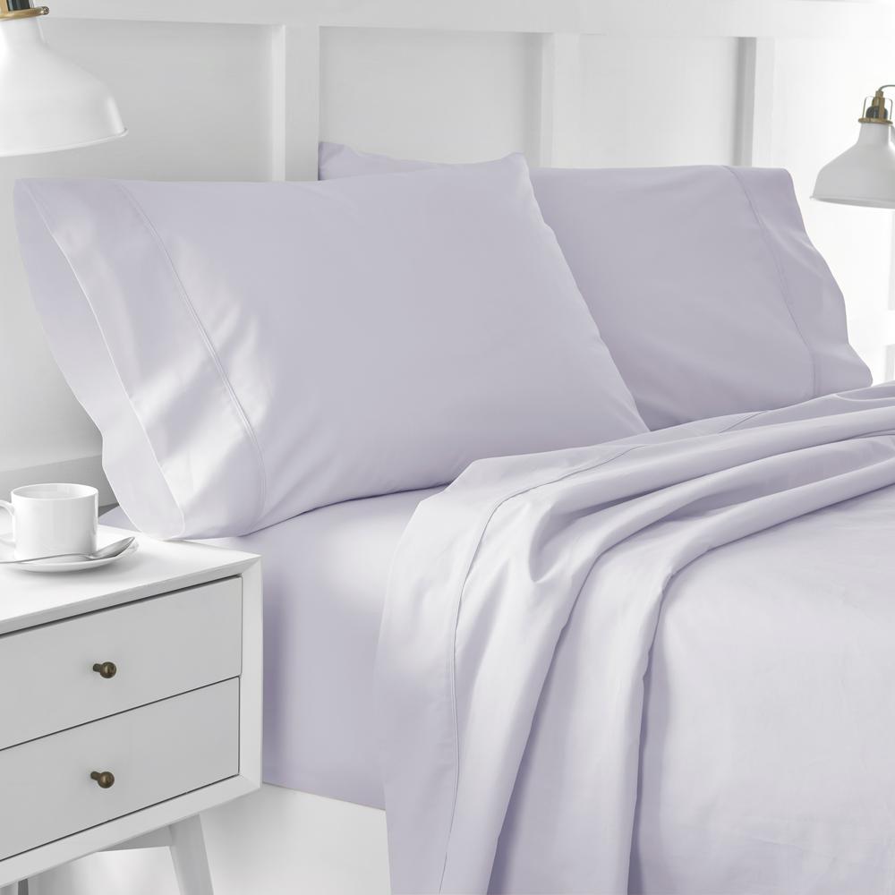 Urban Edgelands T200 4-Piece Purple Thistle Organic Cotton Full Sheet Set