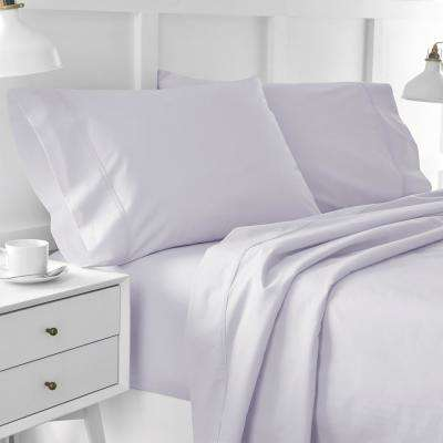 Urban Edgelands T200 3-Piece Purple Thistle Organic Cotton Twin Sheet Set