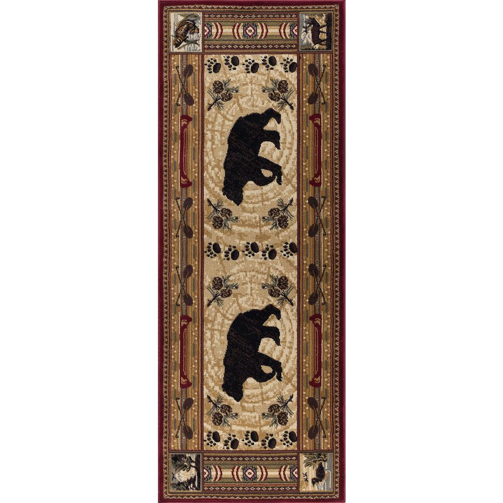 Tayse Rugs Nature Brown 3 ft. x 10 ft. Runner Rug